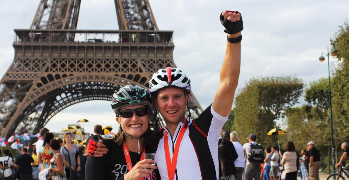 London to Paris celebration at Eiffel Tower