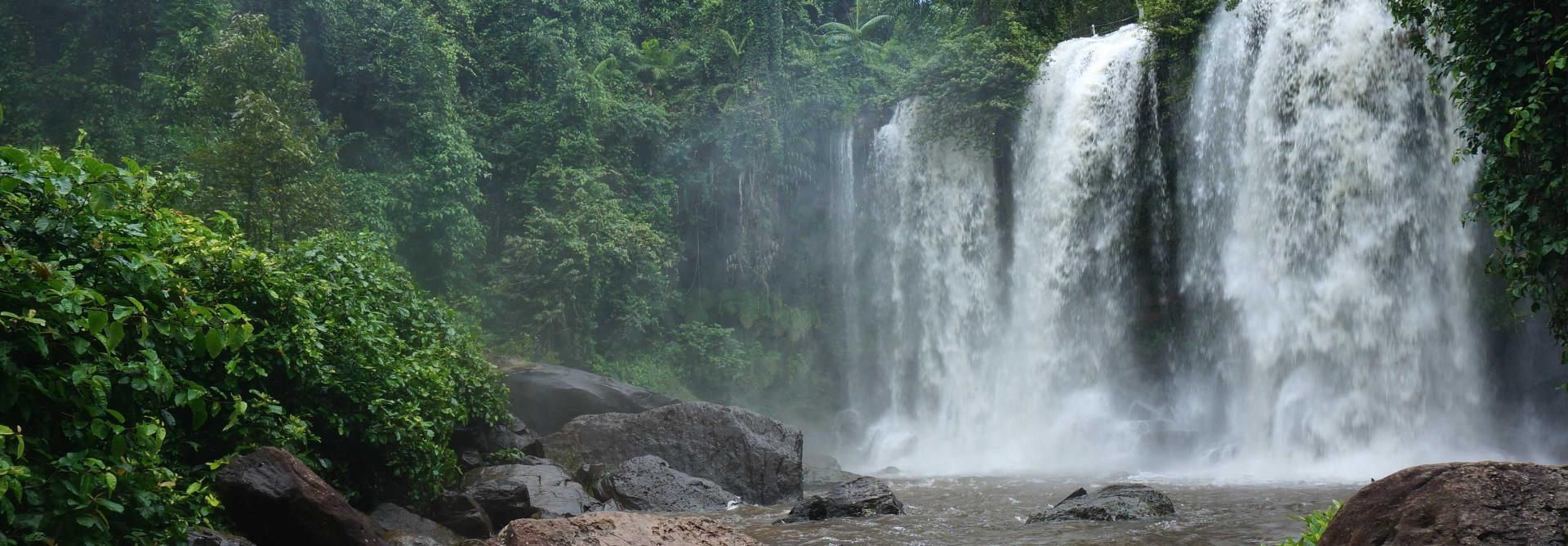 Phnom Kulen waterfall in Cambodia