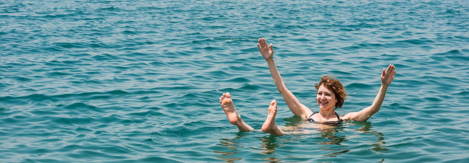Jordan Dead Sea swimming