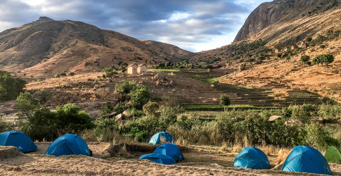 Madagascar trek - the perfect place to set up camp