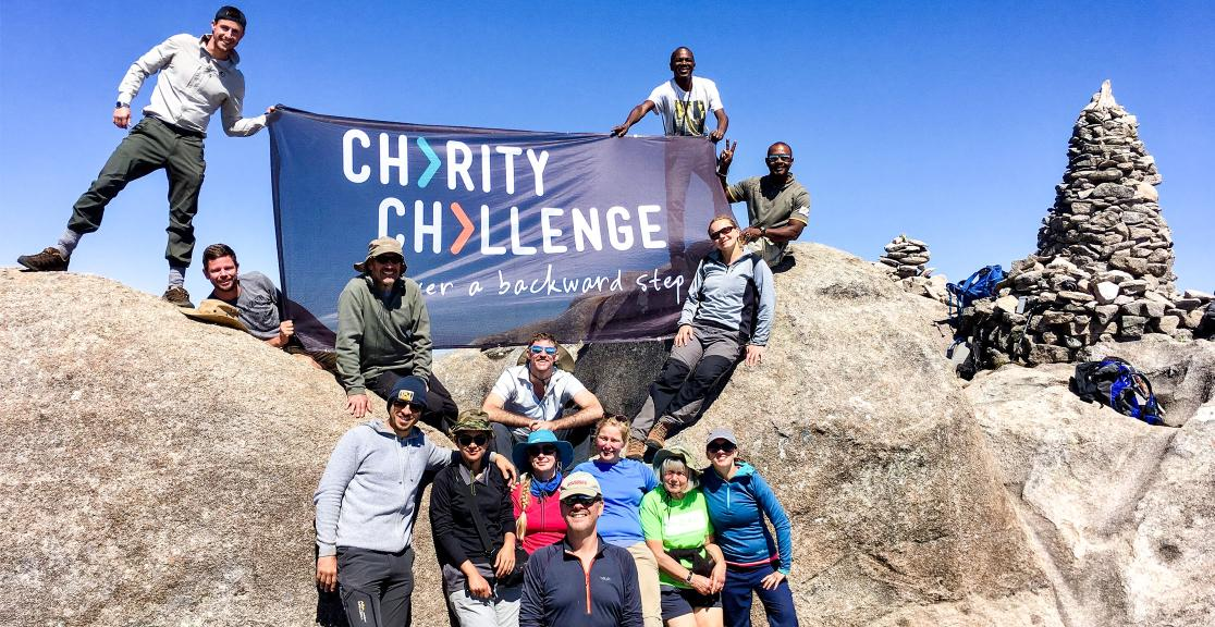 Madagascar trek - Charity Challenge participants celebrating their successful challenge completion