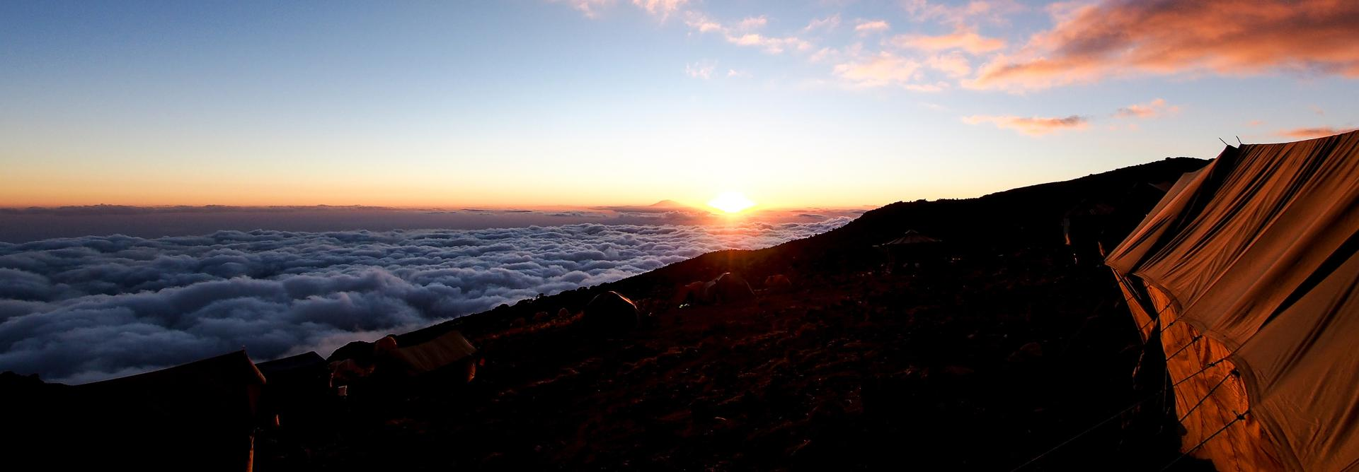 Sunrise from Mt. Kilimanjaro