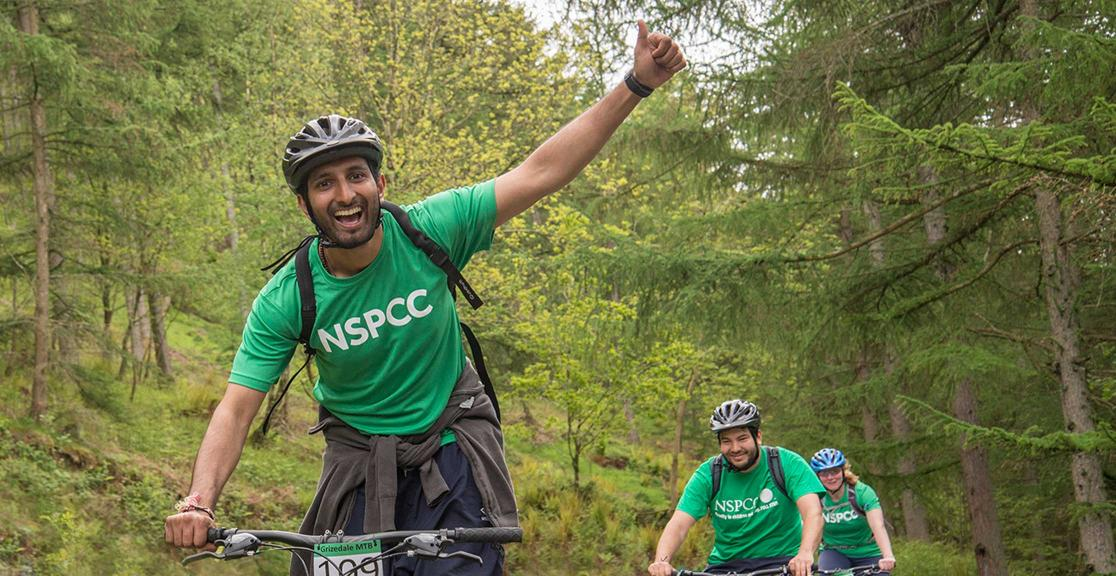 NSPCC Adventure Challenge cyclist