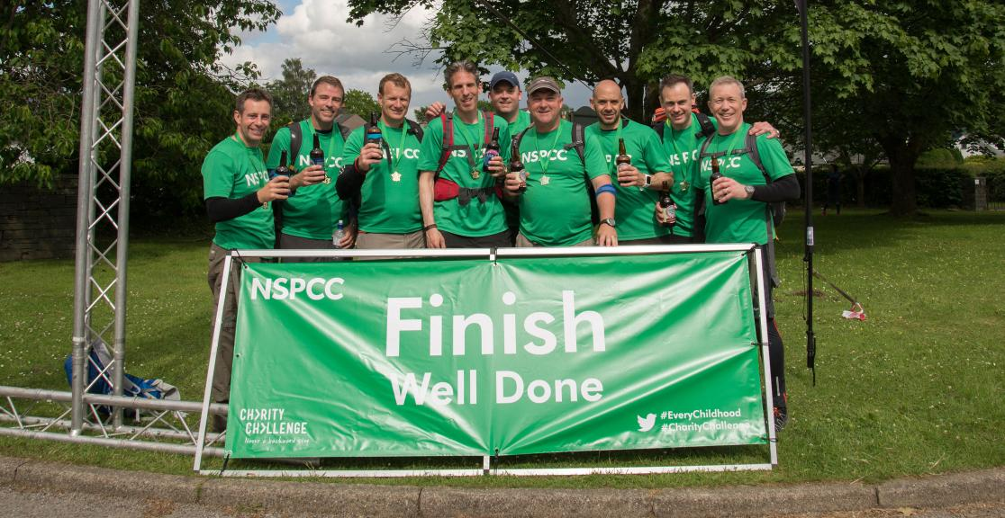 NSPCC Adventure Challenge Finish