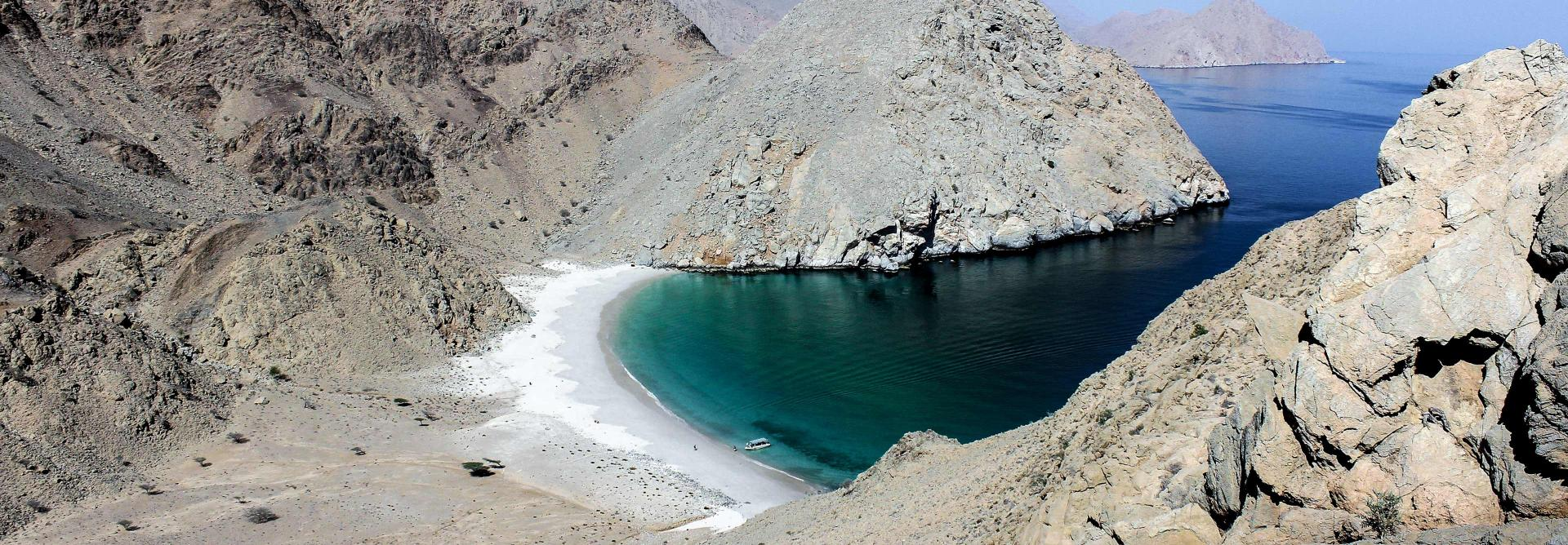 Beautiful beaches on the charity challenge oman mountain trek
