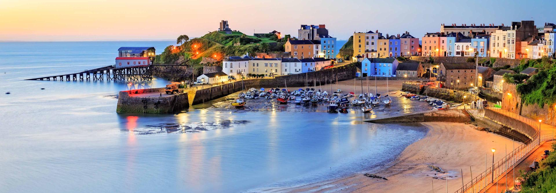 Pembrokeshire Tenby sunset