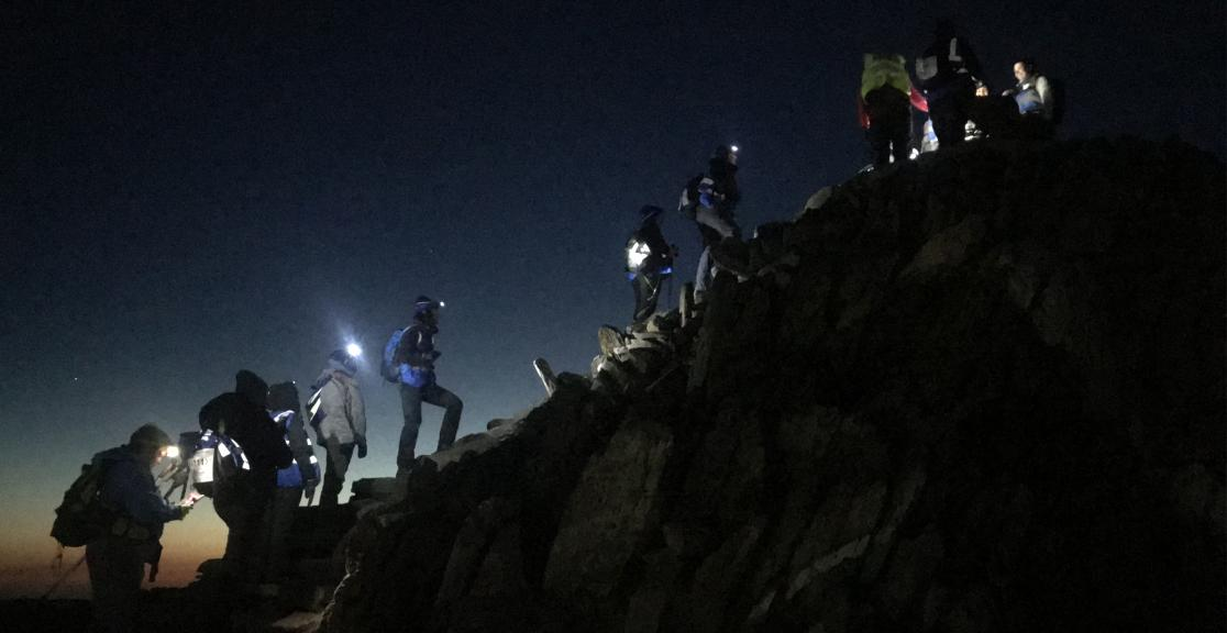 Snowdon at Night trekkers