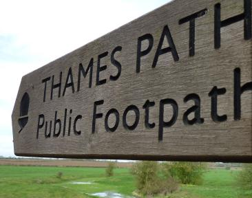 Thames Adventure Challenge signpost