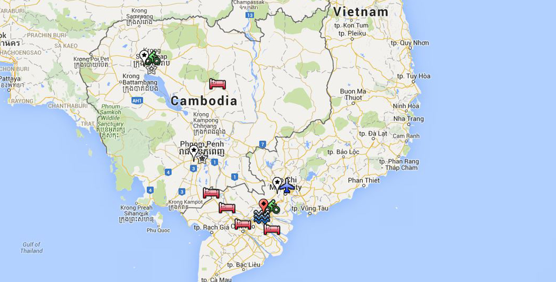 Vietnam to Cambodia Charity Bike Ride