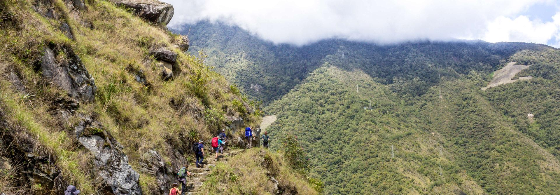 Trek to Machu Picchu steps