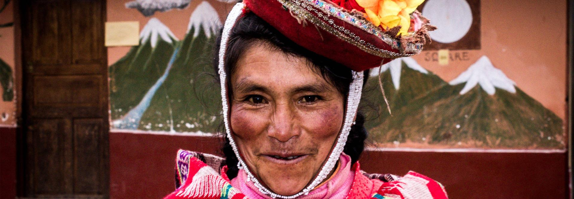 Trek to Machu Picchu woman