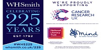 WHSmith's 225th Anniversary raising money for Cancer Research, Mind and the National Literacy Trust